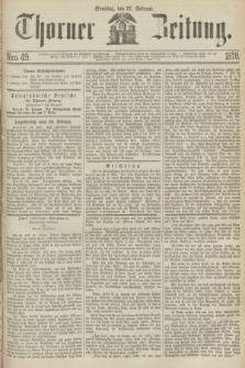 Thorner Zeitung. 1870, Nro. 49 (27 Februar)