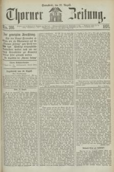 Thorner Zeitung. 1870, Nro. 200 (27 August)