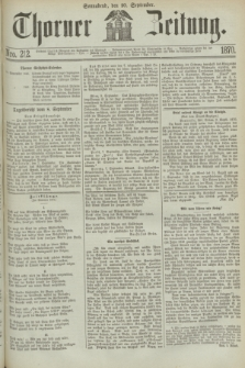 Thorner Zeitung. 1870, Nro. 212 (10 September)