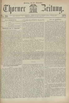 Thorner Zeitung. 1870, Nro. 219 (18 September)
