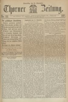 Thorner Zeitung. 1870, Nro. 222 (22 September)