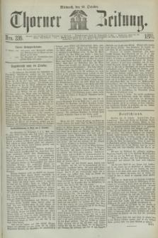 Thorner Zeitung. 1870, Nro. 239 (12 October)