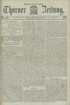 Thorner Zeitung. 1870, Nro. 242 (15 October)