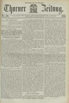 Thorner Zeitung. 1870, Nro. 276 (24 November)