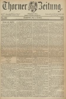 Thorner Zeitung : Gegründet 1760. 1874, Nro. 232 (3 October)