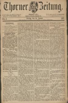Thorner Zeitung : Gegründet 1760. 1877, Nro. 9 (12 Januar)