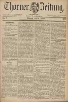 Thorner Zeitung : Gegründet 1760. 1877, Nro. 19 (24 Januar)