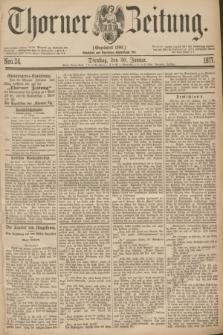 Thorner Zeitung : Gegründet 1760. 1877, Nro. 24 (30 Januar)