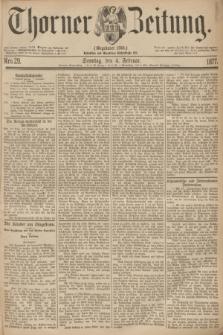 Thorner Zeitung : Gegründet 1760. 1877, Nro. 29 (4 Februar) + dod.