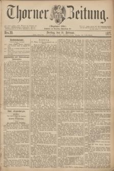 Thorner Zeitung : Gegründet 1760. 1877, Nro. 39 (16 Februar)