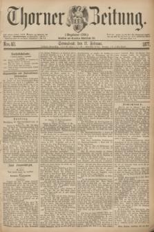 Thorner Zeitung : Gegründet 1760. 1877, Nro. 40 (17 Februar)