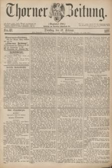 Thorner Zeitung : Gegründet 1760. 1877, Nro. 48 (27 Februar)