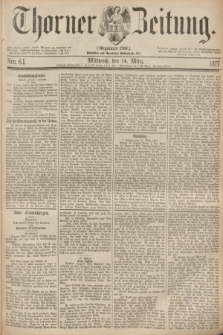 Thorner Zeitung : Gegründet 1760. 1877, Nro. 61 (14 März)