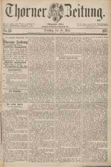 Thorner Zeitung : Gegründet 1760. 1877, Nro. 121 (29 Mai)