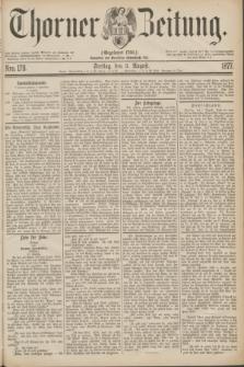 Thorner Zeitung : Gegründet 1760. 1877, Nro. 178 (3 August)
