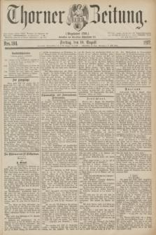 Thorner Zeitung : Gegründet 1760. 1877, Nro. 184 (10 August)