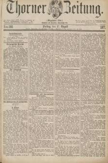 Thorner Zeitung : Gegründet 1760. 1877, Nro. 190 (17 August)