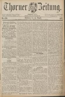 Thorner Zeitung : Gegründet 1760. 1877, Nro. 194 (22 August)