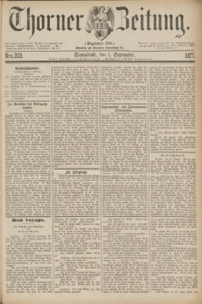 Thorner Zeitung : Gegründet 1760. 1877, Nro. 203 (1 September)