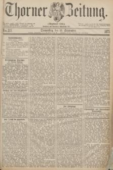 Thorner Zeitung : Gegründet 1760. 1877, Nro. 213 (13 September)