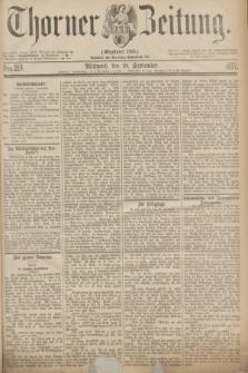 Thorner Zeitung : Gegründet 1760. 1877, Nro. 218 (19 September)
