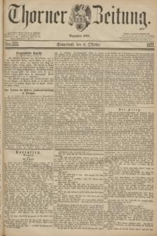 Thorner Zeitung : Begründet 1760. 1877, Nro. 233 (6 Oktober)