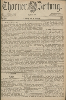 Thorner Zeitung : Begründet 1760. 1877, Nro. 235 (9 Oktober)