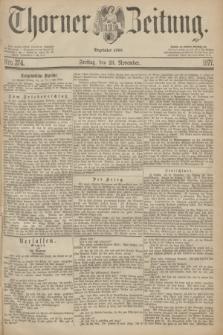 Thorner Zeitung : Begründet 1760. 1877, Nro. 274 (23 November)