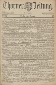Thorner Zeitung : Begründet 1760. 1877, Nro. 283 (4 Dezember)