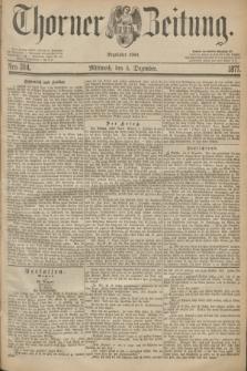 Thorner Zeitung : Begründet 1760. 1877, Nro. 284 (5 Dezember)