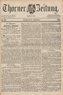 Thorner Zeitung : Begründet 1760. 1883, Nr. 220 (21 September)