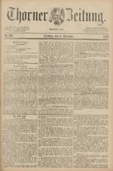 Thorner Zeitung : Begründet 1760. 1883, Nr. 265 (13 November)