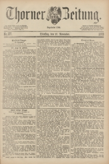 Thorner Zeitung : Begründet 1760. 1883, Nr. 277 (27 November)