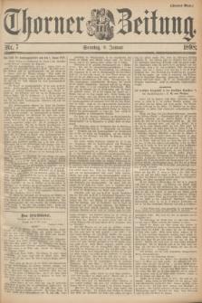 Thorner Zeitung. 1898, Nr. 7 (9 Januar) - Zweites Blatt