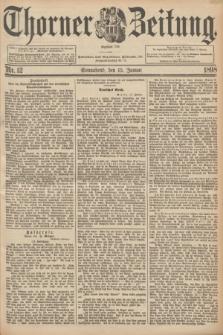 Thorner Zeitung : Begründet 1760. 1898, Nr. 12 (15 Januar) + dod.
