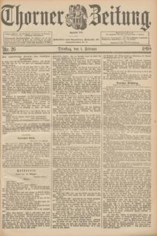 Thorner Zeitung : Begründet 1760. 1898, Nr. 26 (1 Februar) + dod.