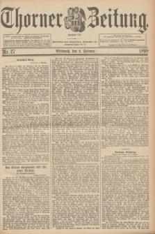 Thorner Zeitung : Begründet 1760. 1898, Nr. 27 (2 Februar)