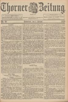 Thorner Zeitung : Begründet 1760. 1898, Nr. 30 (5 Februar)