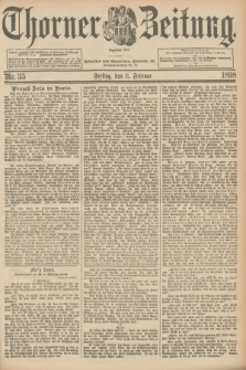Thorner Zeitung : Begründet 1760. 1898, Nr. 35 (11 Februar)