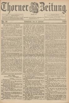 Thorner Zeitung : Begründet 1760. 1898, Nr. 36 (12 Februar)