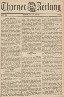 Thorner Zeitung. 1898, Nr. 37 (13 Februar) - Zweites Blatt