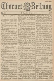 Thorner Zeitung. 1898, Nr. 38 (15 Februar) - Zweites Blatt