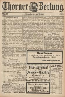 Thorner Zeitung. 1898, Nr. 46 (24 Februar) - Zweites Blatt