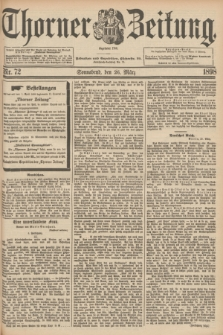 Thorner Zeitung : Begründet 1760. 1898, Nr. 72 (26 März) + dod.