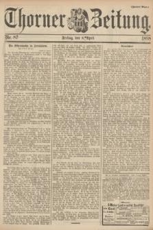 Thorner Zeitung. 1898, Nr. 83 (8 April) - Zweites Blatt
