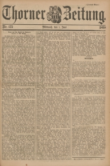 Thorner Zeitung. 1898, Nr. 125 (1 Juni) - Zweites Blatt