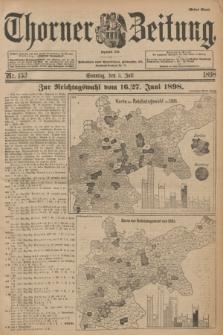 Thorner Zeitung : Begründet 1760. 1898, Nr. 153 (3 Juli) - Erstes Blatt