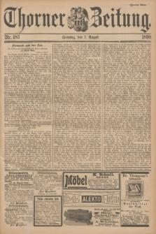 Thorner Zeitung. 1898, Nr. 183 (7 August) - Zweites Blatt