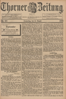 Thorner Zeitung : Begründet 1760. 1898, Nr. 198 (25 August)