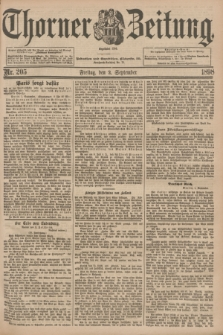 Thorner Zeitung : Begründet 1760. 1898, Nr. 205 (2 September)